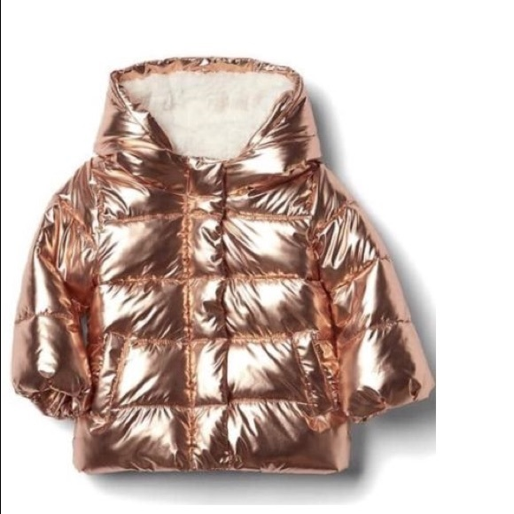 a7f723bc9 Baby Gap Jackets & Coats | Host Pic Nwt Rose Gold Puffer Jacket ...